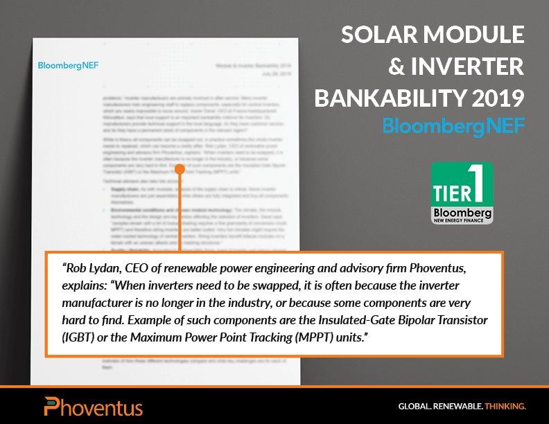 Solar Module & Inverter Bankability